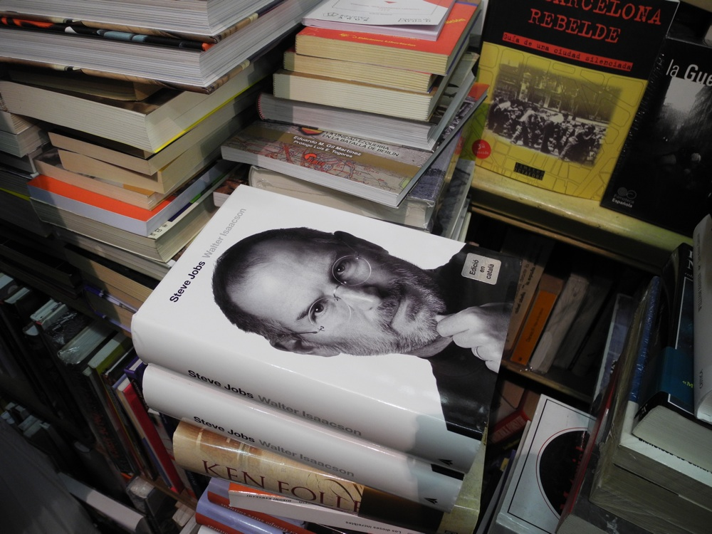 Steve Jobs book In Catalan, Barcelona