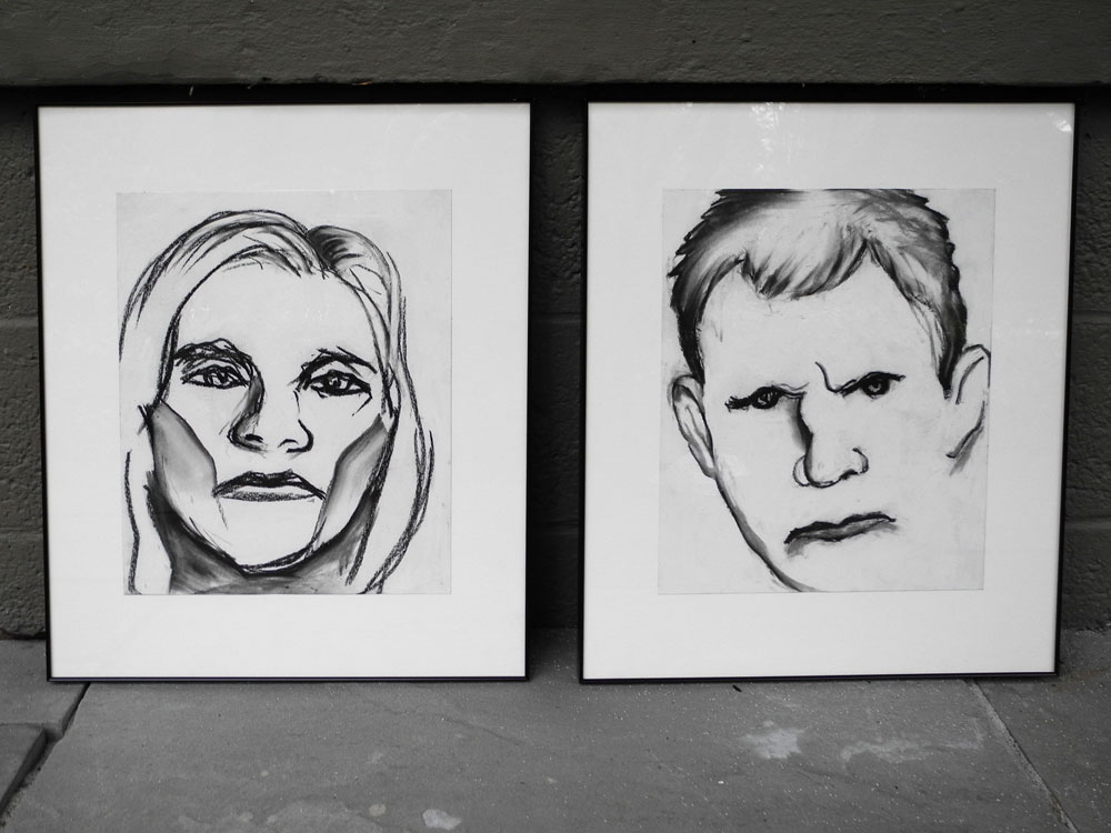 Two Paul Dodd drawings for ISquare show