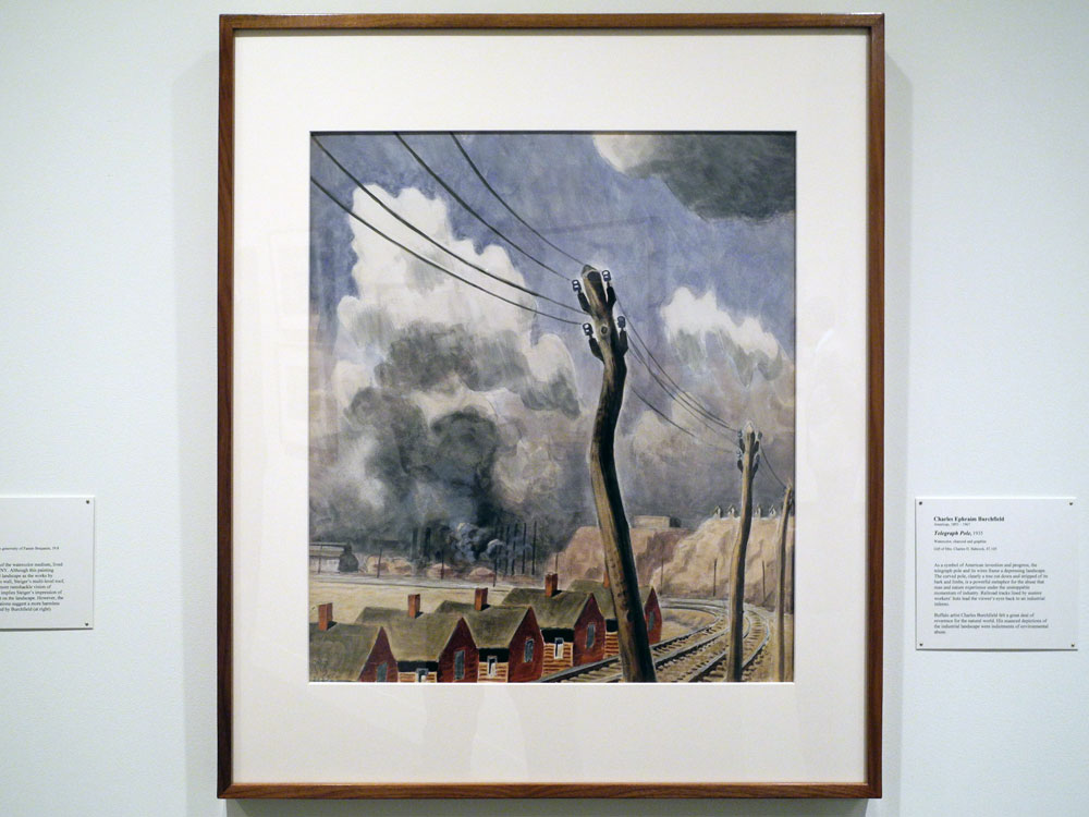 """Charles Burchfield """"Telegraph"""", currently on view at the Memorial Art Gallery in Rochester, New York"""