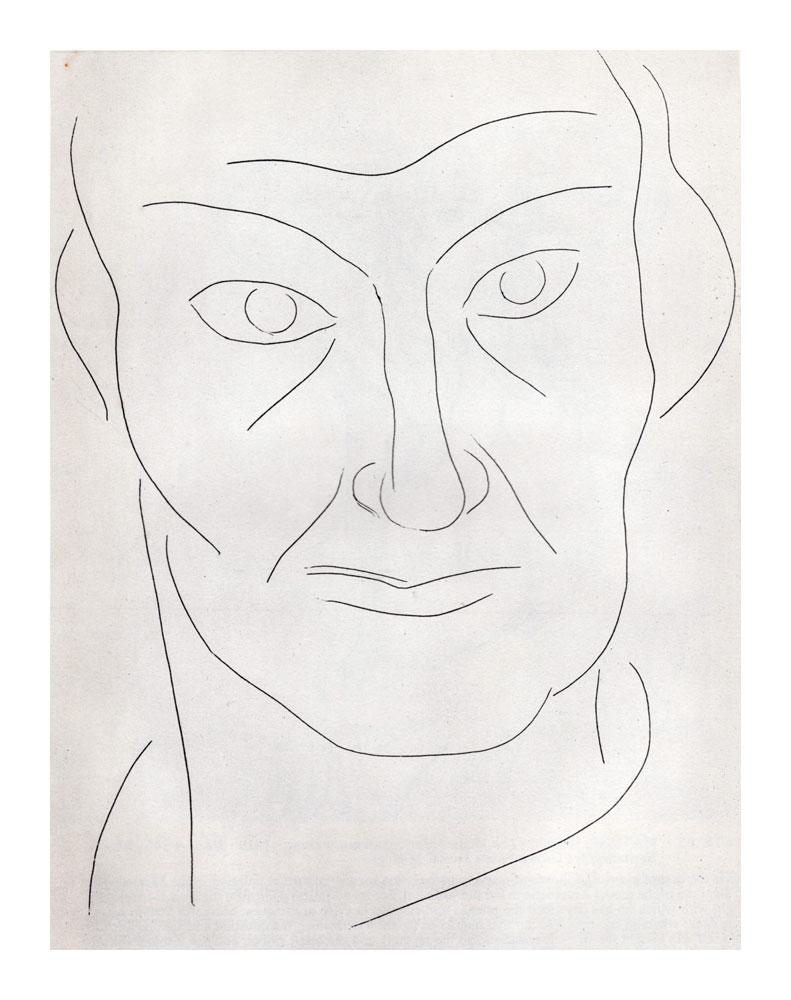"Matisse ""Portrait of Baudelaire"" Etching 1932-34 MoMA"