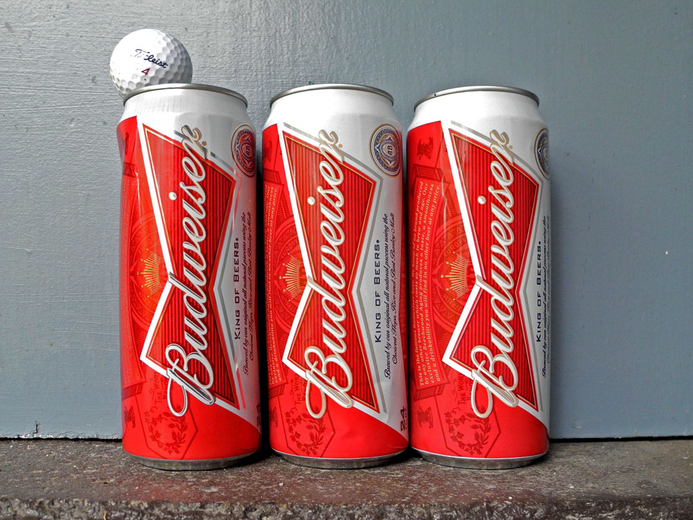 New 24 ounce Budweiser cans on Hoffman Road in Rochester, New York