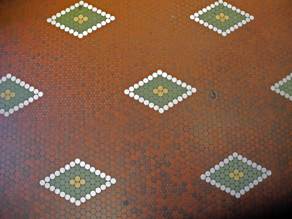 Tierneys' Market tile floor Rochester, New York