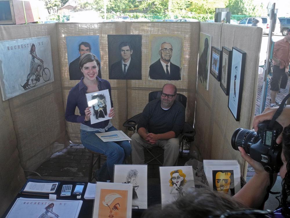 """Artist receiving award at Public Market """"artist's Row"""" show"""