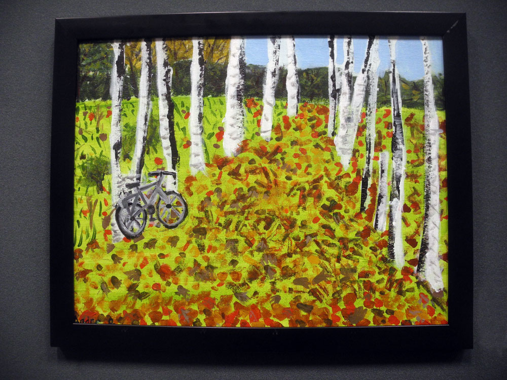 """Andre Osores painting entitled """"Fall Walk"""" in Brighton Art Show 2012"""