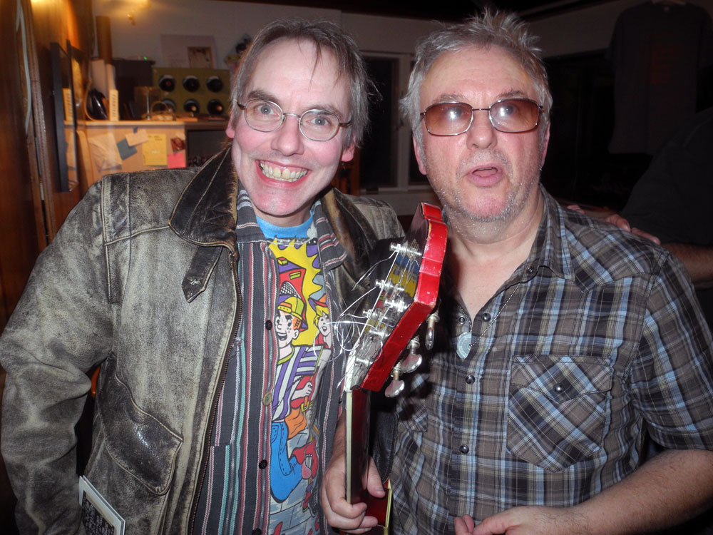 Chris Schepp and Wreckless Eric at house concert in Rochester, New York