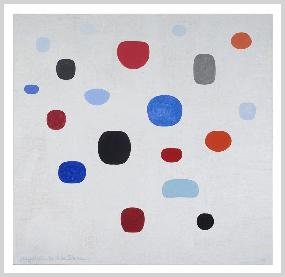 """Kevin Teare """"Psychic to the Stars"""", 2000. Oil on Linen. 60 inches x 62 inches"""