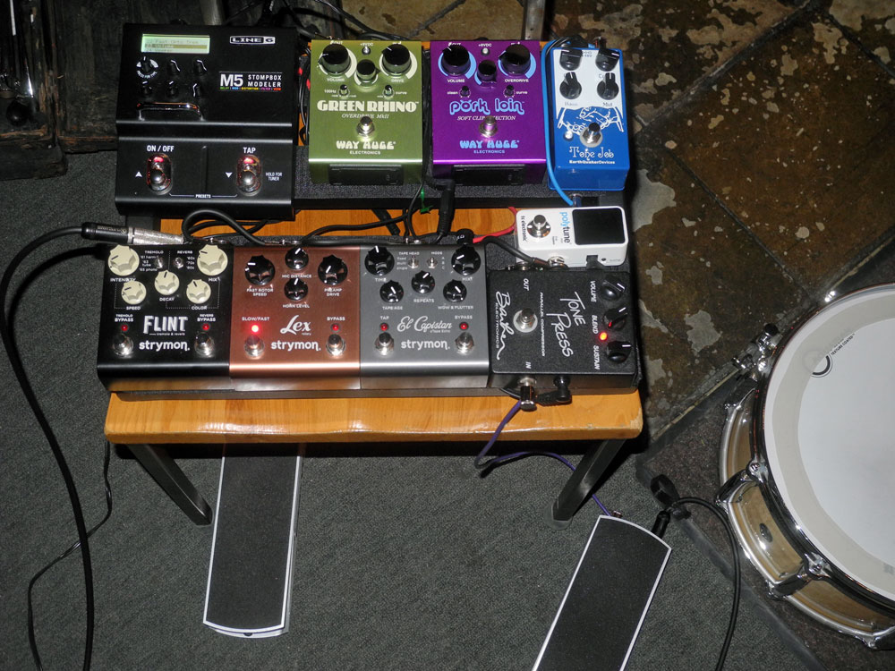 Bob Martin's effects rig for Margaret Explosion