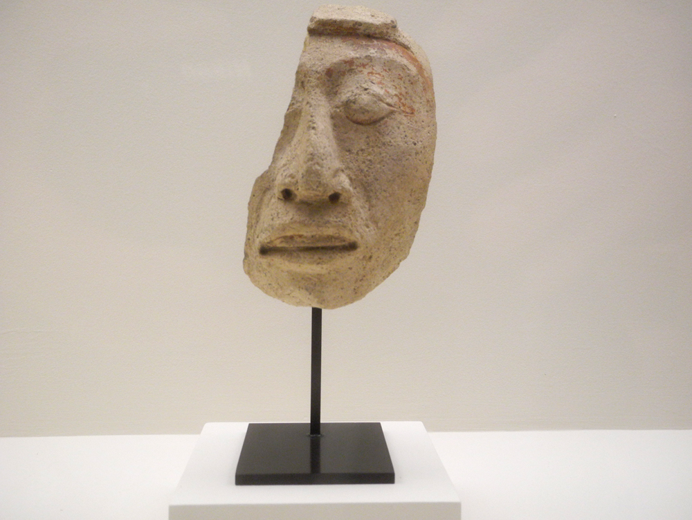 """""""Fragment of a Head"""" from Chiapas, Mexico Eighth Century"""