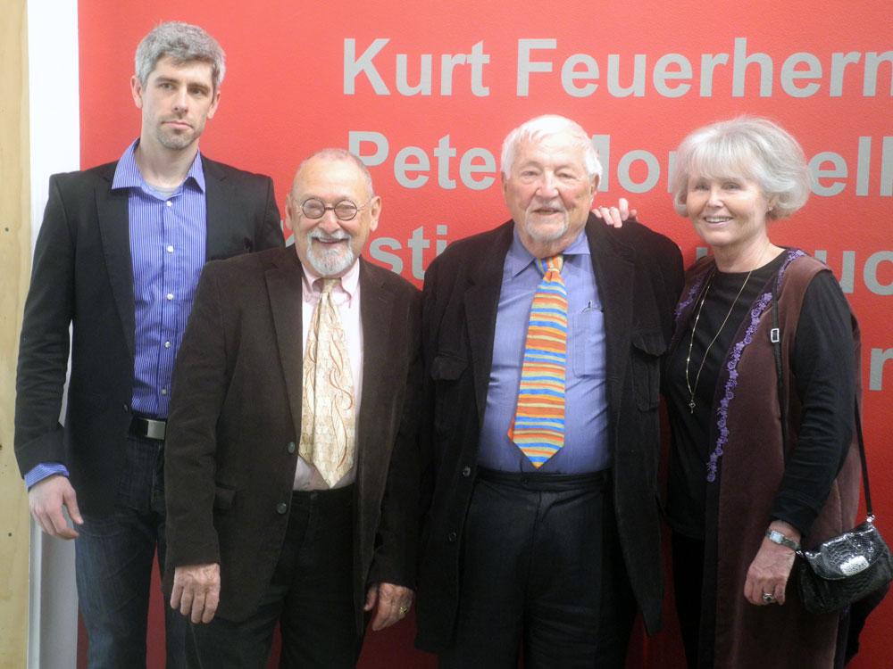 Bleu Cease, Peter Monacelli, Kurt Kurt Feuerherm and Kristine Bouyoucos at Maker Mentor 2013 show at Rochester Contemporary