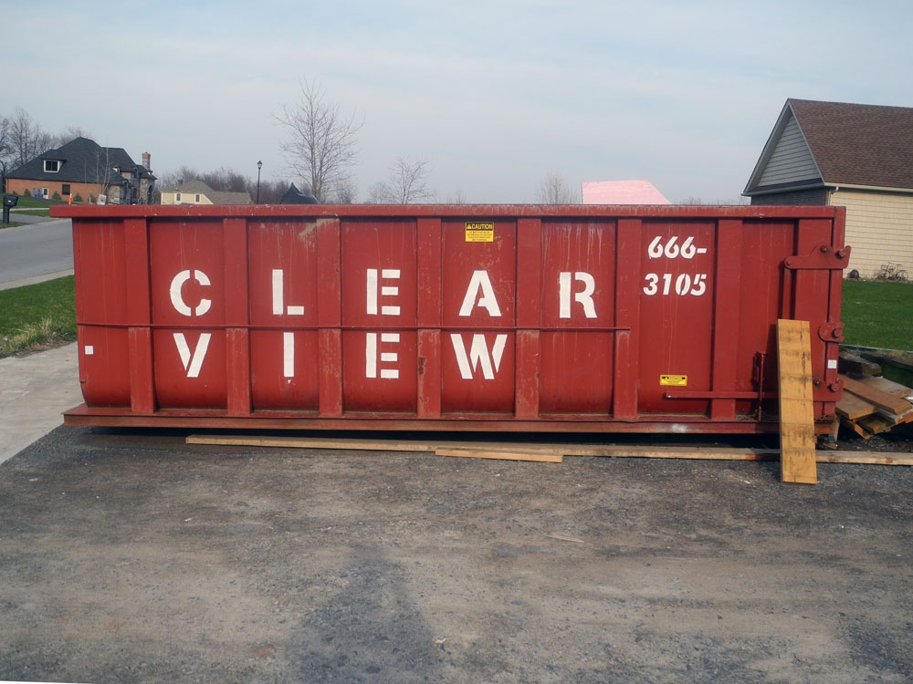 Clear View dumpster in Rochester, New York