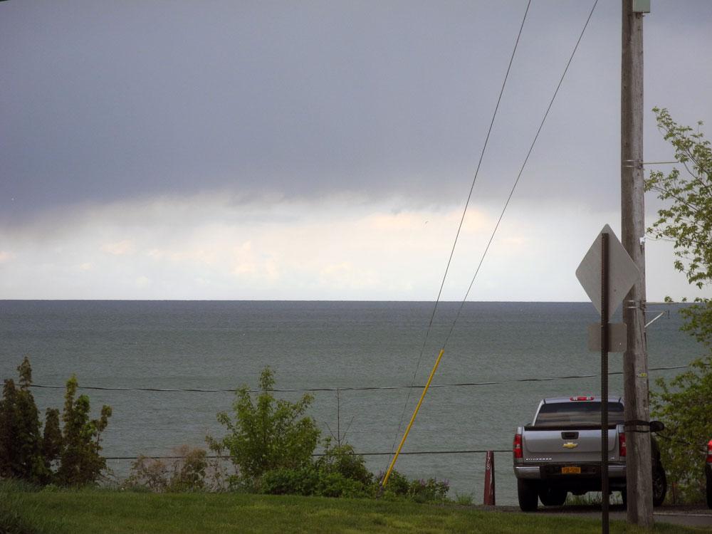 Dark clouds over Lake Ontario
