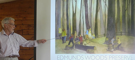 Leo Dodd presentation on Edmunds' Woods in Brighton, New York