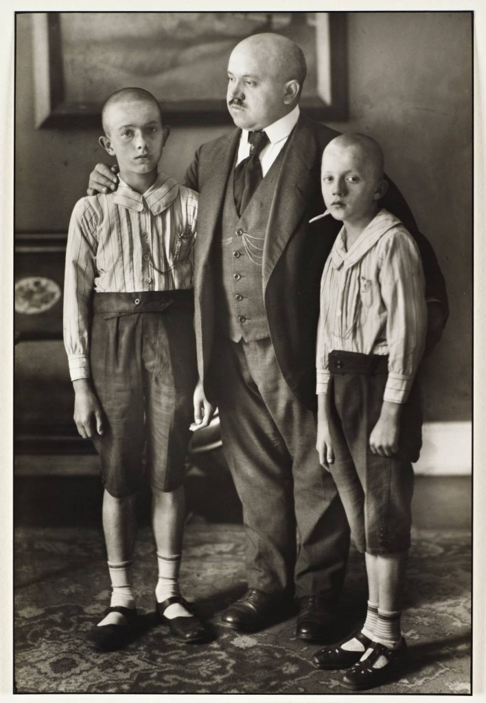 August Sander photo of father and sons