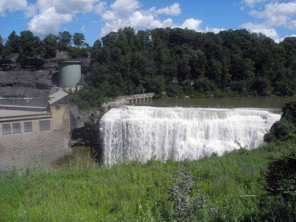Lower Falls of Genesee River in Rochester, New York