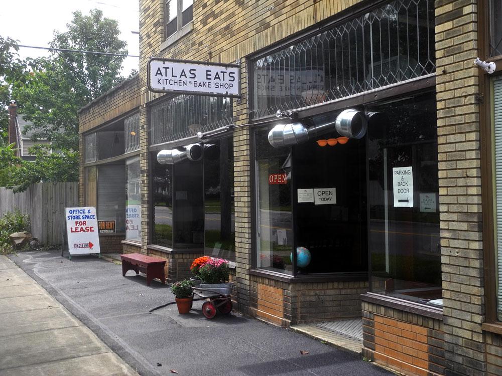 Atlas Eats restaurant on Clinton Avenue North in Rochester, New York