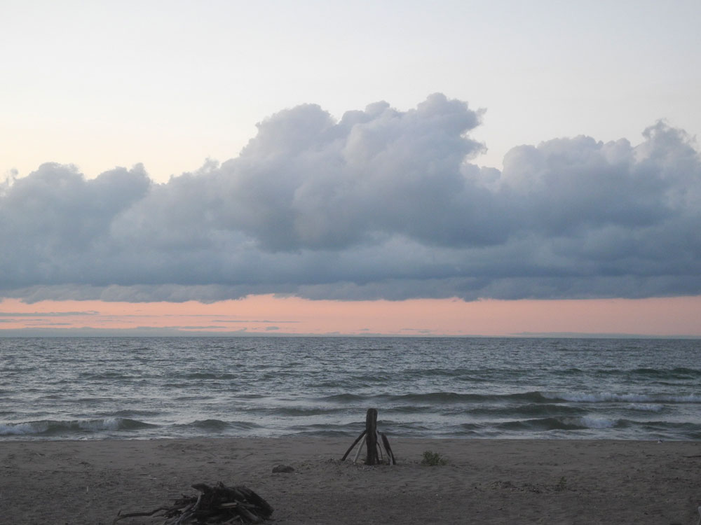 Serious clouds over Lake Ontario
