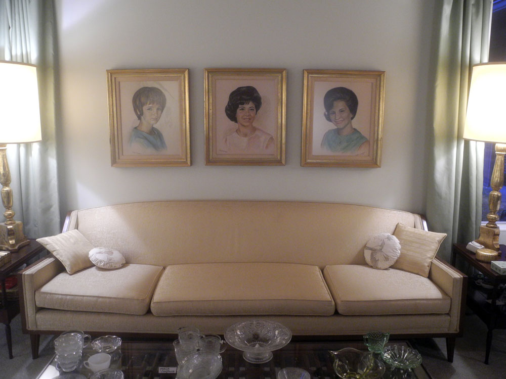 Paintings of three sisters in Don Hershey House