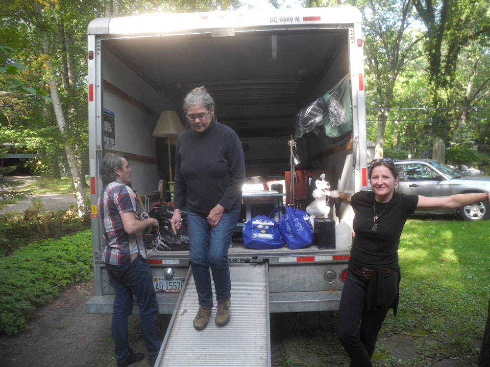 Friends and neighbors on moving day