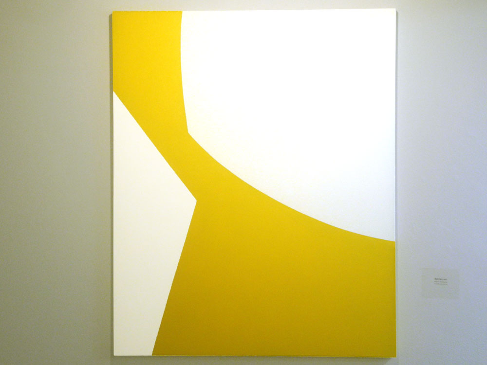 "Bill Kaiser painting entitled ""White Intrusion"" at Lucy Byrne Gallery show at the Creative Workshop in Rochester, New York"