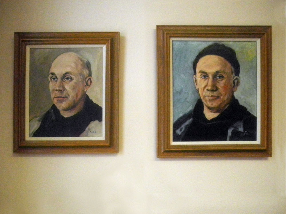 Thomas Merton portraits from the collection of William Shannon at Nazareth College in Rochester, New York