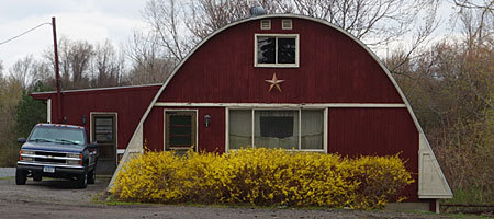 Quonset hut house on Titus Avenue in Rochester, New York