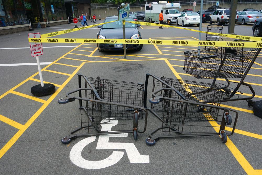 Art istallation in Wegman's parking lot on East Ridge Road in Rochester, New York