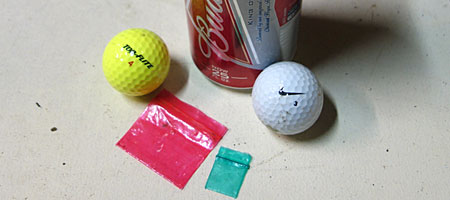 25 ounce Budweiser can, golf balls and drug bags found near Durand Eastman Park in Rochester, New York