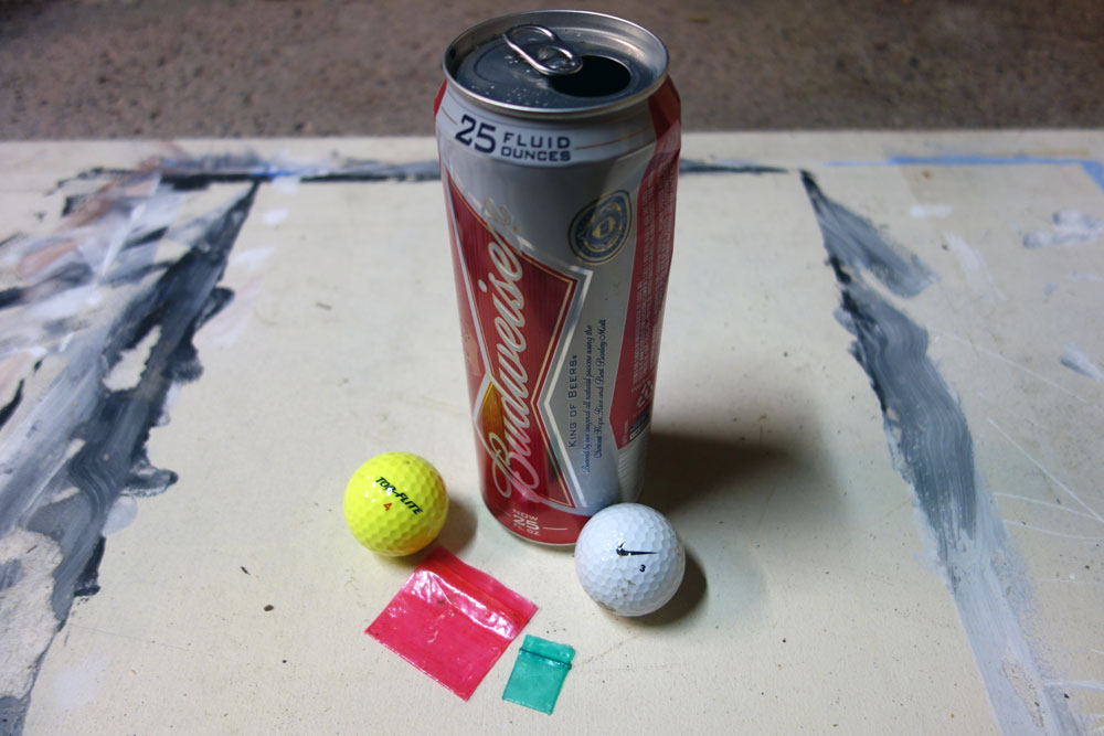 Budweiser can, golf balls and drug bags found at Durand Eastman Park in Rochester, New York