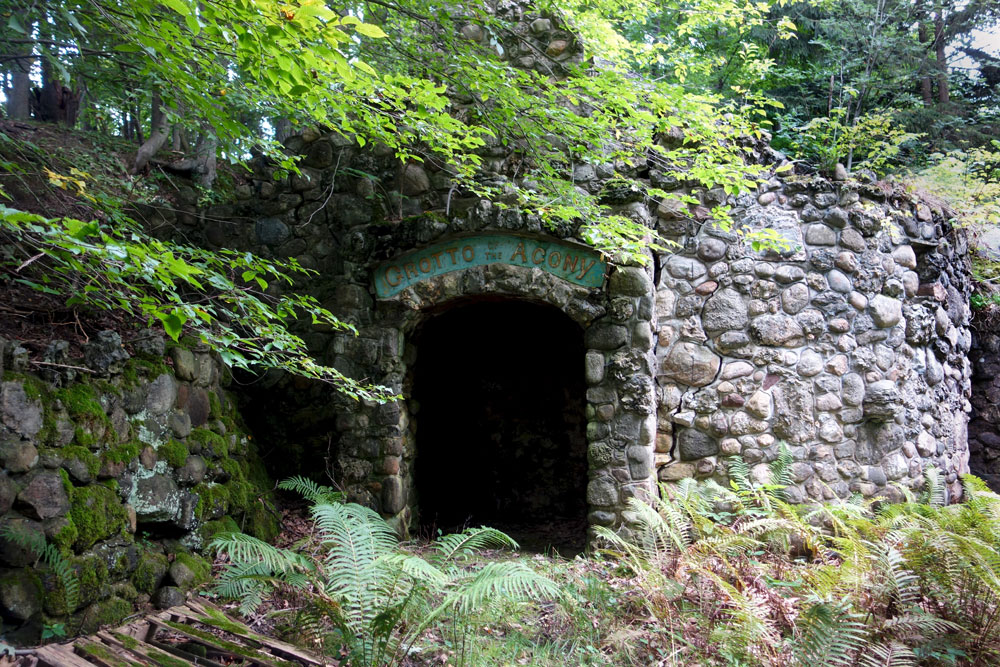 The Grotto of the Agony at St. Michael's Mission House in Conesus, New York