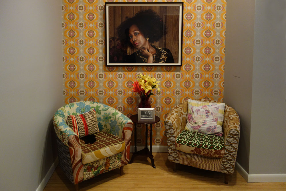 Mickalene Thomas photo of her mom at George Eastman House in Rochester, New York