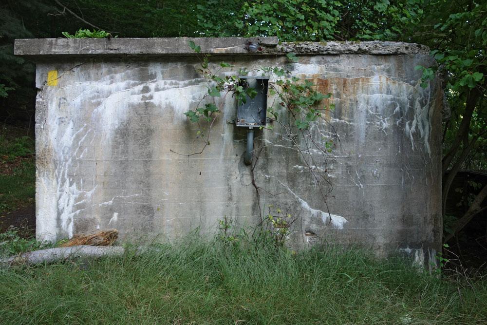 Concrete structure near Durand Lake in Rochester, New York