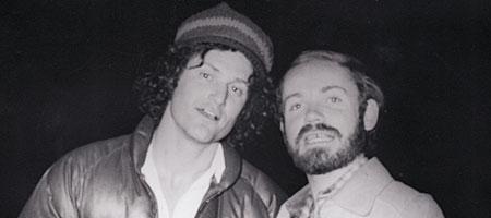Jeff Munson and Tim Schapp on Dartmouth Street in Rochester, New York 1976