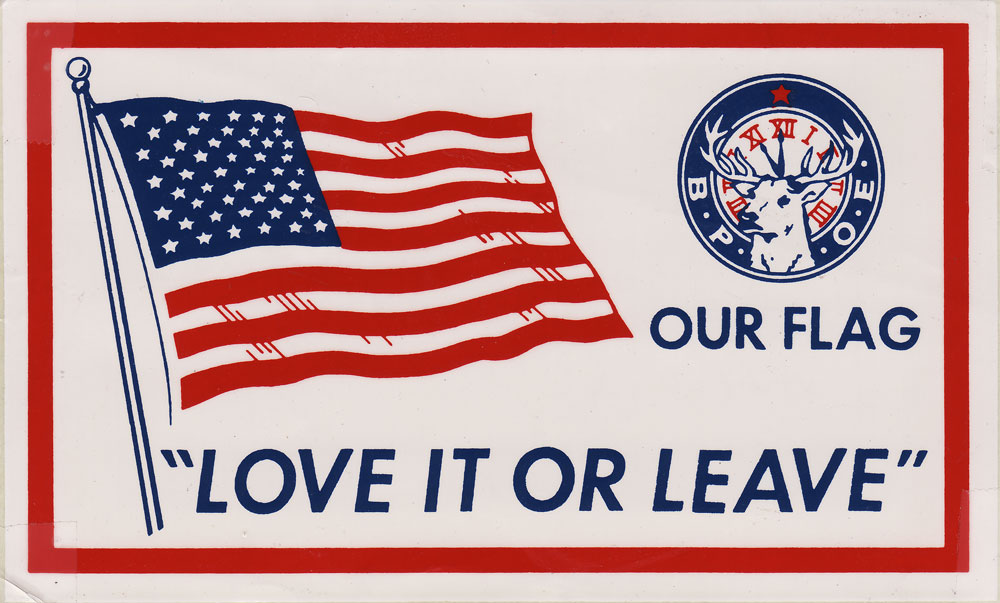 Love It Or Leave Flag Decal 1969