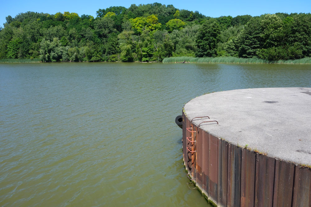 Dock on Genesee River near Turning Point Park