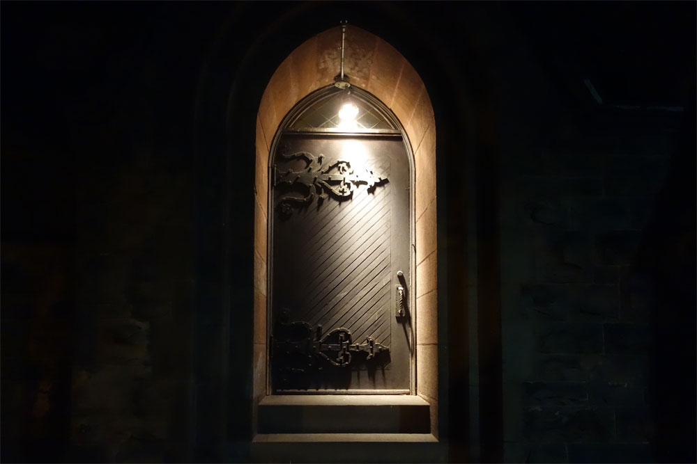 Door on side of Christ Church in Rochester New York