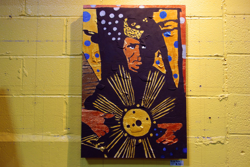 El Destructo Sun Ra painting at Record Archive in Rochester. New York