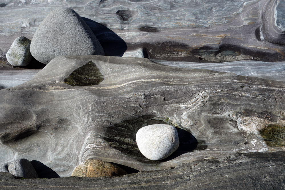 Maine rocks on rocky Maine Coast