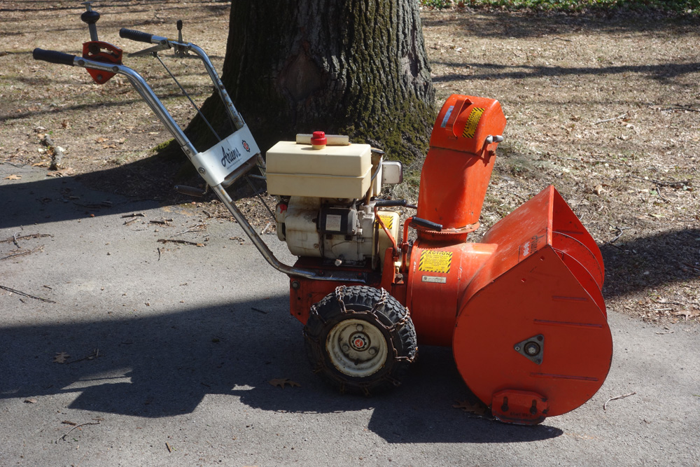 Rick's snowblower in Spring