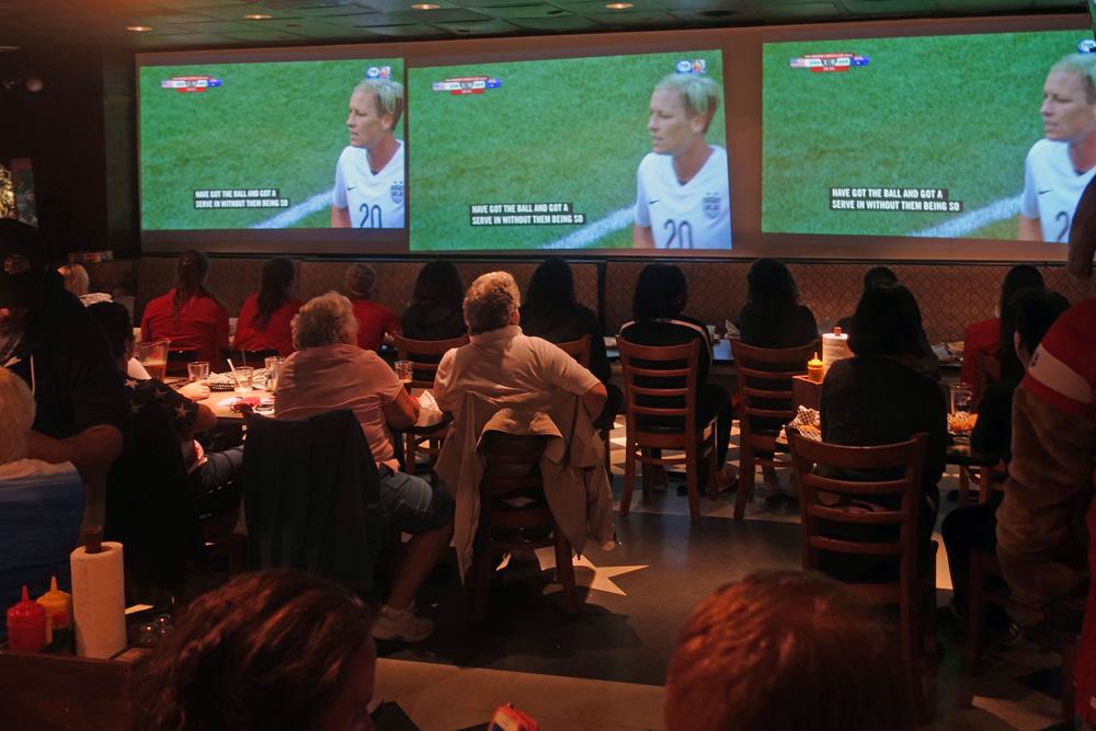 Marshall Street Bar with Western New York Flash for USA Women's match vs. Australia