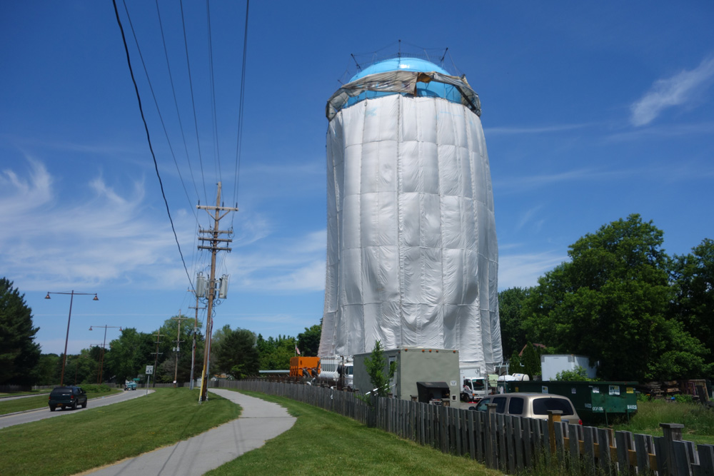 Water tank on Sea Breeze Way near Seneca Road in Rochester, New York
