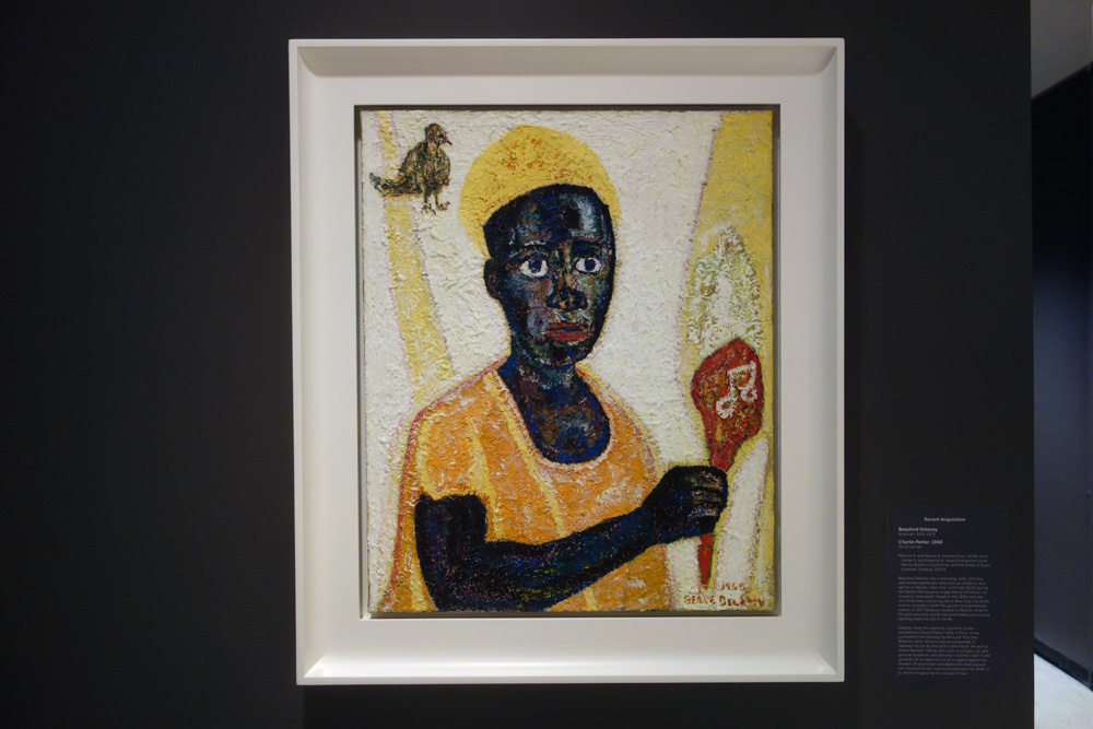 """Beauford Delaney's """"Charlie Parker"""" 1968 at the Memorial Art Gallery in Rochester, New York"""