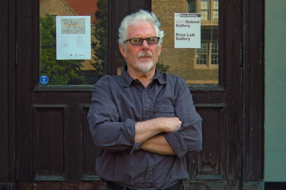 Rick Hock in front of Visual Studies Workshop in Rochester, New York