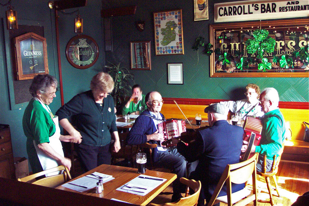 Band at Carroll's Bar in Rochester New York 2003 Saint Patrick's Day