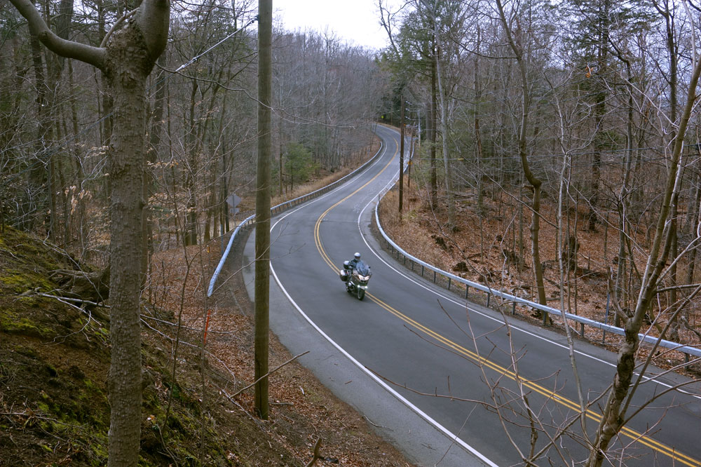 Motorcycle on Lake Road in Webster, New York