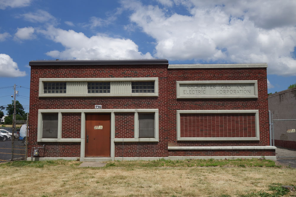Rochester Gas & Electric substation on South Clinton Avenue in Rochester, New York