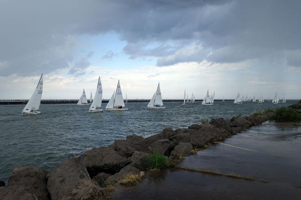 Sailboats from Summerville Pier in Rochester, New York