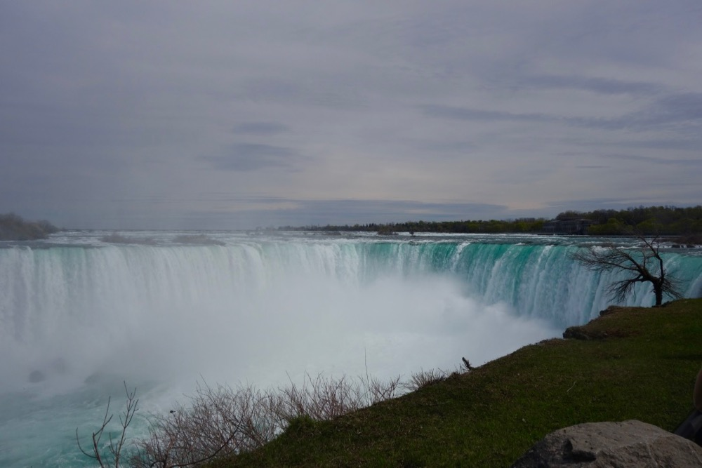 Horseshoe Falls and sky from Niagara Falls, New York