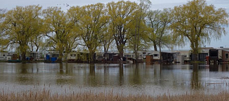 Trailer Park in high water along Route 18
