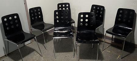 Little Black Chairs in Christ Church