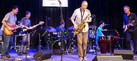 Michael Blake's Red Hook Soul performing at Xerox during the 2017 Rochester Jazz Fest